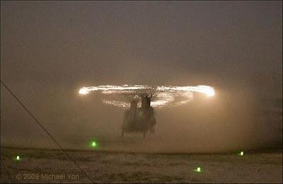 efecto optico helicoptero